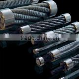 16mm Galvanized/Ungalvanized Steel Cable Wire Stainless steel wire rope Crimp 6x24 1x7,7x7,1x19,6x36,7x19,1x37,7x37