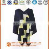personalized woven 100% acrylic hot sell fashion custom logo scarf