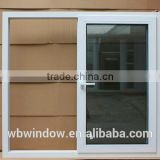2016 newest PVC profile tinted glass sliding windows from factory in Foshan China.