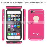 Slim Protective Waterproof Phone Case for Iphone 6 Plus Aluminum Metal Frame Full-Body Underwater