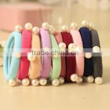 Fashion Simulated Pearls Bandage Head Tassel String Rubber Band Elastic Scrunchy Gum for Women Hair Accessories Headwear