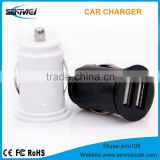 2015 new mini car battery charger multiple mobile phone car charger dual car usb charger