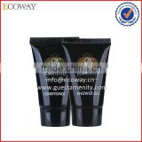 eco-friendly hotel bath gel tubes black plastic empty shampoo tube