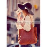 Everyday Magnetic closure multi color women utility custom leather tote bag