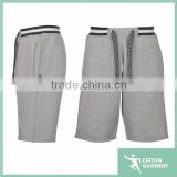 gray rope elastic band plain sweat short mens fleece short blank board shorts wholesale                                                                         Quality Choice