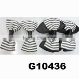 girls black white grosgrain ribbon hair bows wholesale