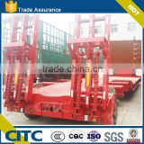 low bed semi trailer with hydraulic ladder low bed trailer truck