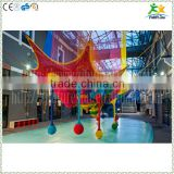 Best selling kids indoor knitted net climbing playground with strong colorful nylon rope