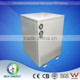 Energy saving sanitary water R410a opened loop DC inverter compact ground source heat pump for house heating