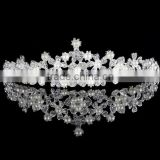 New designs wholesale Crystal Bridal Wedding Jewelry Pearl Crown Tiara Headband Hair Accessories