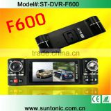"F600 2.7"" 16:9 TFT LCD screen dual lens car dvr camera 2 channel car DVR With Voice guider"