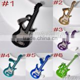 2015 new fashion special birthday gift mixed color lowest 60pcs moq wholesale stock stainless steel guitar pendant