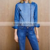 wholesale blue Denim Biker Jacket for women & girls women's cloth