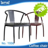 Antique band tube restaurant dining room coffee chair T006