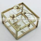 Beautiful crystal jewllery box with metal rose for wedding gift and decoration favors