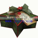 star shape christmas gift packaging boxes