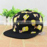 Hot sell promotional outdoor sports flat brim camo snapback cap and hat/OEM custom logo hiphop snapback cap hat