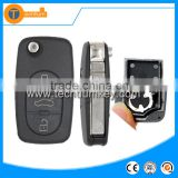 Plastic ABS key with 1616 small battery and blade and logo 3 button key blank for Audi A4 A6
