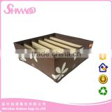 Promotional fancy foldable decorative cardboard non-woven Storage Boxes for clothes and sock