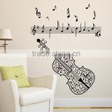 Wholesale Custom Made Waterproof Music Guitar Muurstickers