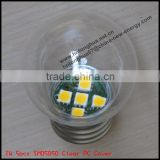 LED PC clear cover G45 color light bulb 1W E27 / B22 , PC cover , IP45 , CE & ROHS