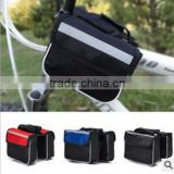 Cheap cycling bag phone bicycle accessories bicycle saddle tube package mountain Bicycle Double Bag