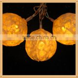 2015 hot sale 110v/220v/24v/4.5v/ 3v low or high Voltage paper twine ball leb string lights/fairy light
