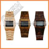 2016 fashion Japan Move wood face watch razor wooden watches
