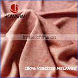 100% Viscose Single Jersey Melange Yarn Dyed Stock Fabric