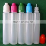 plastic pe maker e liquid bottle e cigarette bottle volume 20ml 30m l50ml pen bottle long thin tip spill proof cap