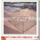 Gabions Application and Square Hole Shape galvanized steel gabion cage/gabions rock box/gabion garden