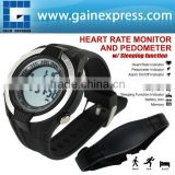Heart Rate Monitor Pedometer step counter Fat Calories Count Exercises Belt Sports Watch Sleep Mode Indicator 40~240bpm HRM