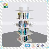 2015 High quality clear acrylic book display rack/custom modern design acrylic big newspaper display shelf from China low price