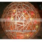 Manufacturer supplier christmas decorative wicker ball