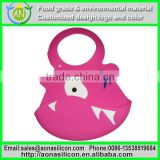 wholesale NOVELTY baby Silicone bib silica gel rice pocket silicone waterproof bib mix color