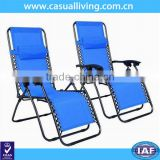 New Zero Gravity Chairs Case Of 2 Lounge Patio Chairs Outdoor Yard Beach- Blue