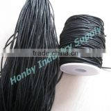 2mm Black Wax Cotton Cord String