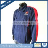 Two Tone Navy and Red Senior Technician Engineer Uniform with Own Brand Name in Embroidery