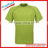 OEM wholesale fashion adult t-shirts for run and leisure, fitness running t shirt, overseas top