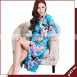 Bridal silk bath robe Custom made women robe Long Nightgown RL1-0015