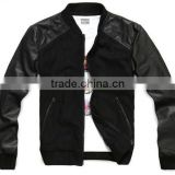 2012 new style men apparel winter sweater leather jacket wool jacket