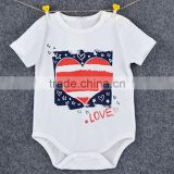 newborn baby clothes high quality white rompers baby