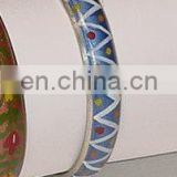 Brass Embossed Bangles with Epoxy Color