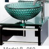 simple glass wash basin with Single Hole