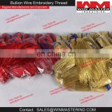 Gold and Red Bullion Wire Embroidery Thread
