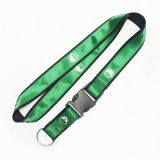 Top Quality Fashion Polyester Custom Logo Double Layer Satin Lanyard Polyester Lanyard With Sublimation Satin Lanyard