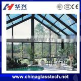 custom aluminium frame tempered glass glass green house