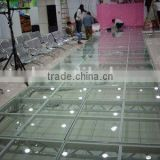 popular hot sale glass stage for events/magnifying glass led,flashing glass electric lighting glass