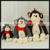 wholesale unstuffed plush animals monkey toys