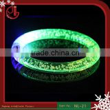 Multicolor LED Flashing Bracelet Light Up Acrylic Bangle For Party Bar Halloween,Chiristmas, Hot Dance Gift 2016 New